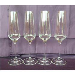 Qty 4 Rona Stemmed Champagne Flutes