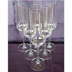 Qty 6 Rona Stemmed Champagne Flutes