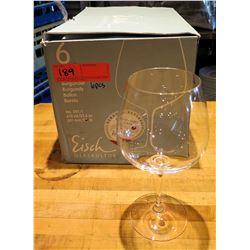Qty 6 Riedel Burgundy Wine Glasses 23.6 oz