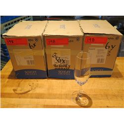 Qty 18 Schott Swiesel Imperial Stemmed Champagne Flutes