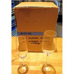 Qty 3 Riedel Champagne Glasses & 9 Schott Swiesel Flutes
