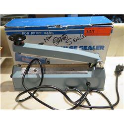 Qty 2 Impulse Sealers, Model KF-200H (1 used; 1 unused)