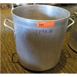 "Large Metal Stock Pot 14"" Diameter & Small Pot 10"" Diameter"