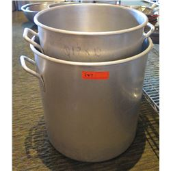 "Large Metal Stock Pot 19"" Diameter & Smaller Pot 17"" Diameter"