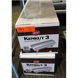 Qty 2 Table Craft Kenkut 3 Film & Foil Dispensers