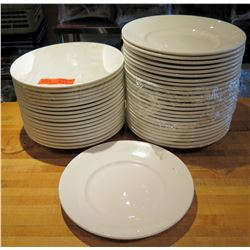 "Qty Approx. 40 Round Oneida Stone China Dinner Plates 12"" Diameter"
