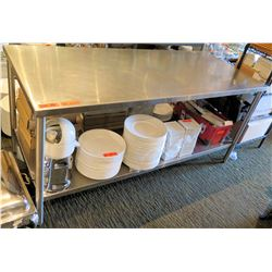"Stainless Steel Work Table w/ Undershelf 72""x30""x33.5"" (table only)"