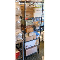 Black Metal Wire Mesh 5 Tier Shelf (shelf only)