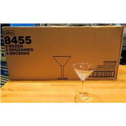 Qty 34 Libbey Citation Cocktail Glasses 6 oz