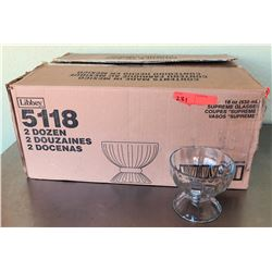 Qty 24 Libbey Supreme Glasses 18 oz