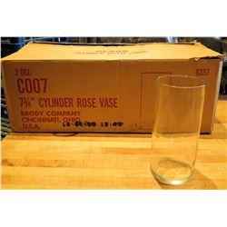 """Qty 24 Brody Cylinder Rose Vase 7.75"""""""