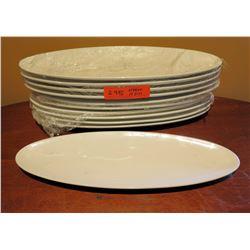 "Qty 10 Oval Fine Porcelain Oval Plates 16""x6"""