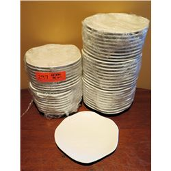 "Qty Approx. 45 Fine Porcelain Uneven Edge Plates 7"" Diameter"