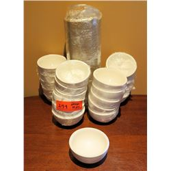 "Qty Approx. 38 W.H. Durable Chinaware Small Soup Cups 4"" Diameter x 2"" High"