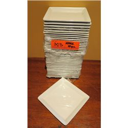 "Qty Approx. 40 Rene Ozorio Aura White Square Side Plates 5"" Diameter"
