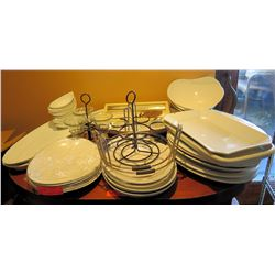 Multiple Serving Platters, Utensils, Dishes, Sign Holders, etc