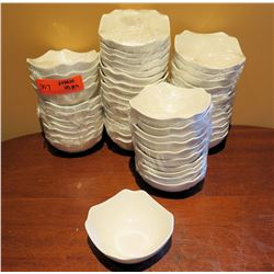 "Qty Approx. 45 Fine Porcelain Uneven Edge Plates 5"" Diameter"