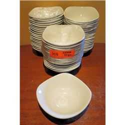 "Qty Approx. 50 Steelite International England Square Bowls 5"" Diameter"