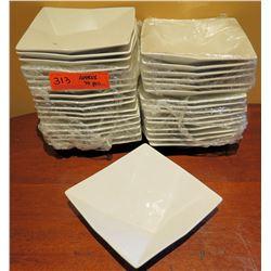 """Qty Approx. 30 Fine Porcelain Square Bowls 7"""" Diameter"""