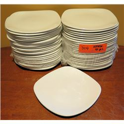"Qty Approx. 40 Steelite International England Square Dishes 7"" Diameter"