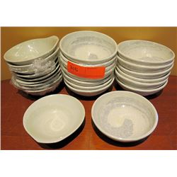 "Multiple White Porcelain & Glazed Bowls Approx. 5"" Diameter"