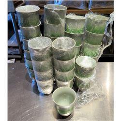 "Qty Approx. 32 Ceramic Glazed Cups 3"" Diameter x 3.5"" High"