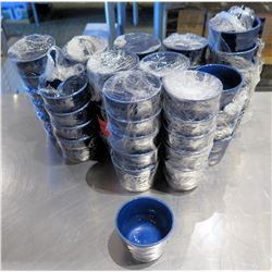 "Qty Approx. 55 Blue White Condiment Bowls 3""x2"""