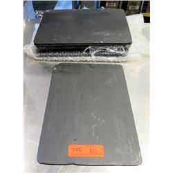 "Qty 8 Stone Grill Serving Platter 14""x10"""