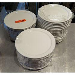 "Qty 43 World Porcelana Round Plates 9"" Diameter"