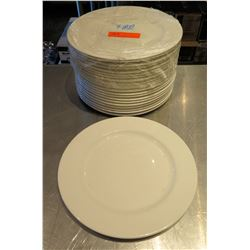 "Qty 22 Syracuse Royal Rideau White Round Plates 11.5"" Diameter"
