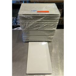 "Qty Approx. 30 FOH Front of the House White Rectangle Plates 11""x7"""