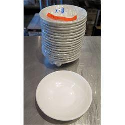 """Qty 18 Oneida Bone China  Round White Bowls 5"""" Diameter"""