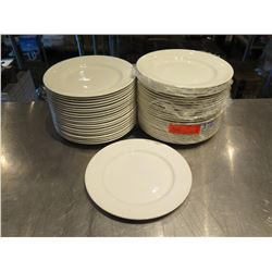 "Qty Approx. 46 Dudson Fine China White Round Plates 10"" Diameter"