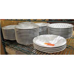 "Qty 55 Sant' Andres Royal Porcelain Round Plates 10"" Diameter"