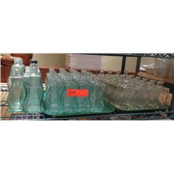 Multiple Frosted Wavy Glass Bottles