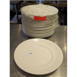 """Qty 19 Oneida Bone China Round White Plates 12"""" Diameter"""