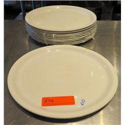 "Qty 10 Churchill England Round White Plates 13"" Diameter"