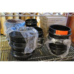 Multiple Black Chubu Bowls