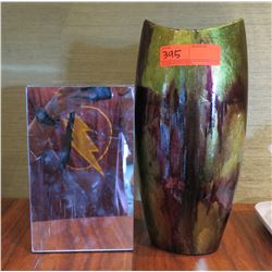 """Qty 2 Gourmet Display 10"""" Mirrored &  14"""" Glazed Vase Containers"""