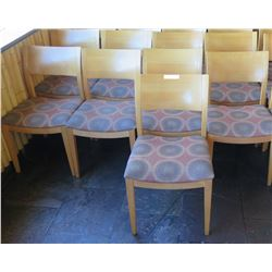 """Qty 9 Wood Backed Chairs w/ Upholstered Seats 34"""" High"""