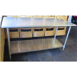 "Aerohot Stainless Steel Work Table w/ Undershelf 72""x30""x36"""