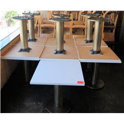 """Qty 13 Square White Tables w/ Pedestal Base 30""""x30""""x29"""""""