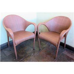 Qty 2 Janus et Cie Dedon Woven Indoor/Outdoor Arm Chairs