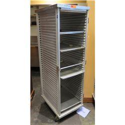 "Commercial Rolling Metal Pan Storage Rack 21""x27.5""x69"""