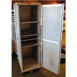 """Commercial Rolling Metal Pan Storage Rack w/ Door 21""""x27.5""""x69.5"""""""