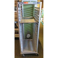 "Commercial Rolling Metal Pan Storage Rack 21.5""x26""x64"""