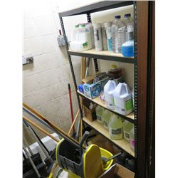 Contents of Shelving: Cleaning Supplies (contents only, shelving not included)