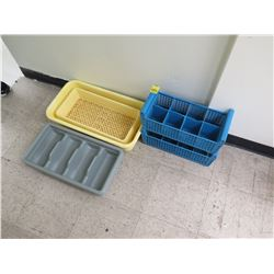 Misc. Plastic Flatware Trays