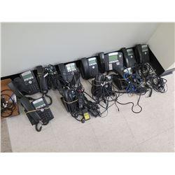Qty 11 Polycom Desk Phones