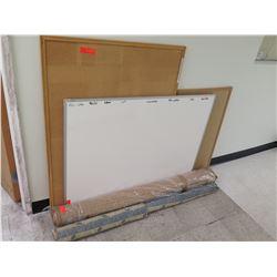 White Board, Corkboards, Fabric Rolls, Etc.